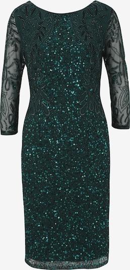 Kokteilinė suknelė iš heine , spalva - smaragdinė spalva: Vaizdas iš priekio