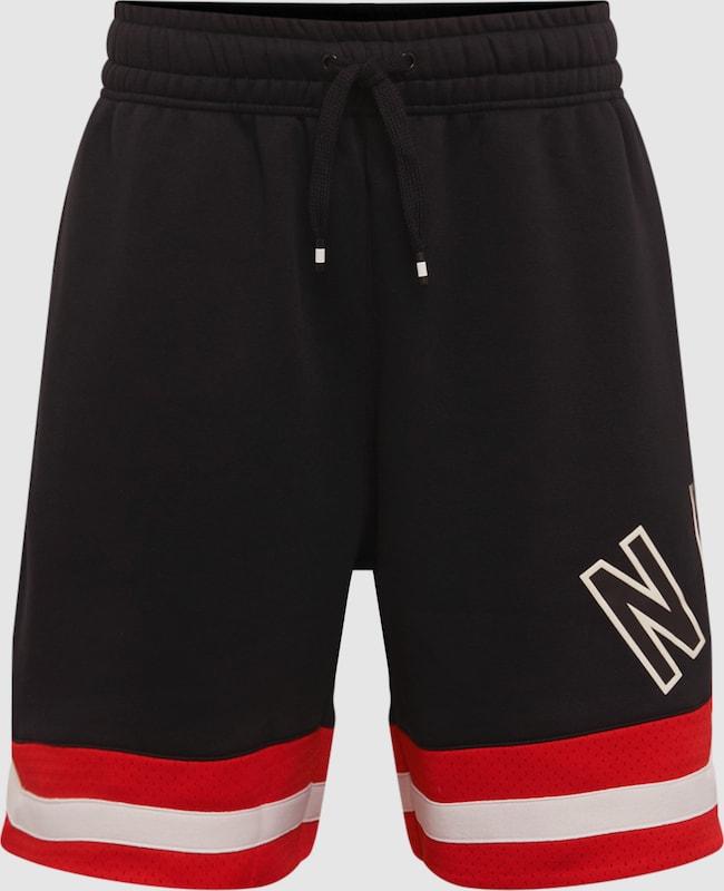 Nike Sportswear Sportshorts in rot   schwarz   weiß  Freizeit, schlank, schlank