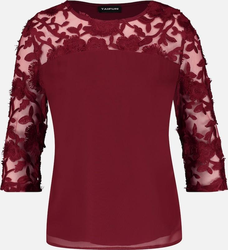 ba3420224a46 TAIFUN Blausenshirt in feuerrot Männer und Frauen für Markenkleidung ...
