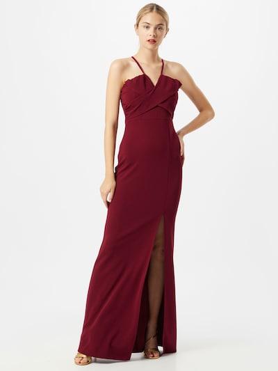 Trendyol Společenské šaty 'Smart' - burgundská červeň: Pohled zepředu