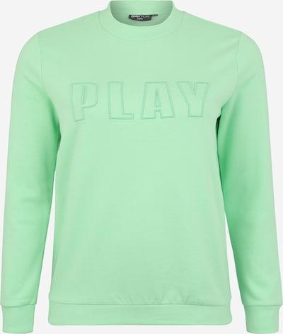Only Play Curvy Majica 'ONPDANI BRUSHED' | zelena barva, Prikaz izdelka