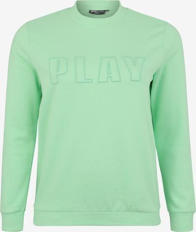 Only Play Curvy Sweat de sport 'ONPDANI BRUSHED CN SWEAT SP' en vert: Vue de face