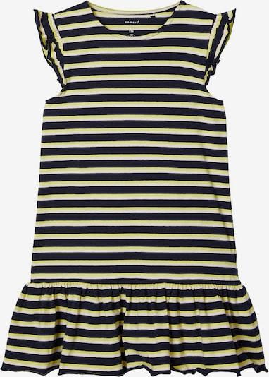 NAME IT Kleid 'NKFJILL SS DRESS CAMP' in marine / gelb / weiß, Produktansicht