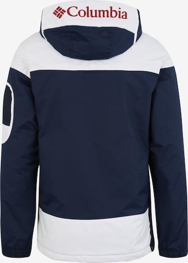 COLUMBIA Veste outdoor 'Challenger' en bleu marine / blanc: Vue de dos