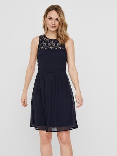 VERO MODA Spitzen Kleid in dunkelblau, Modelansicht