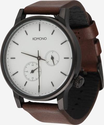 Komono Uhr 'WINSTON' in braun / silber / weiß, Produktansicht