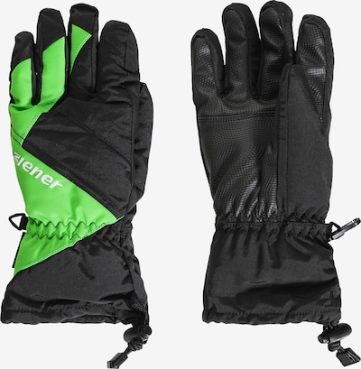 ZIENER Skihandschuhe 'Agil' in neongrün / schwarz, Produktansicht