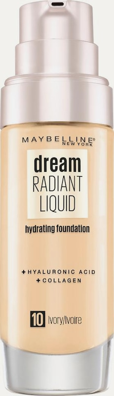 MAYBELLINE New York Foundation 'Dream Radiant Liquid' in nude, Produktansicht