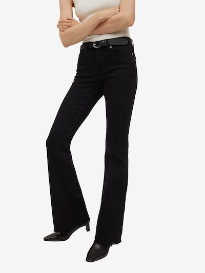 MANGO Jeans 'Flare' in black denim, Modelansicht