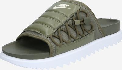 Nike Sportswear Pantolette  'City Slide' in khaki / weiß, Produktansicht