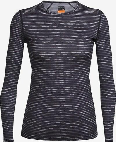 Icebreaker Shirt 'Oasis LS Crewe Diamond Line' in violettblau / weiß, Produktansicht