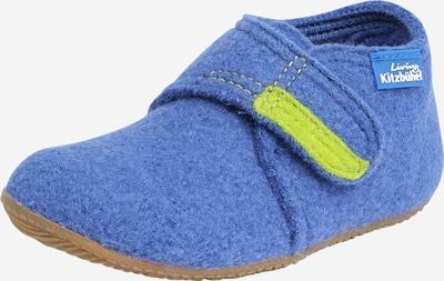 Living Kitzbühel Huisschoenen in de kleur Royal blue/koningsblauw / Geel, Productweergave