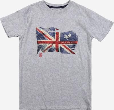 Pepe Jeans Koszulka 'SIDD' w kolorze gołąbkowo niebieski / nakrapiany szary / czerwony / białym: Widok z przodu