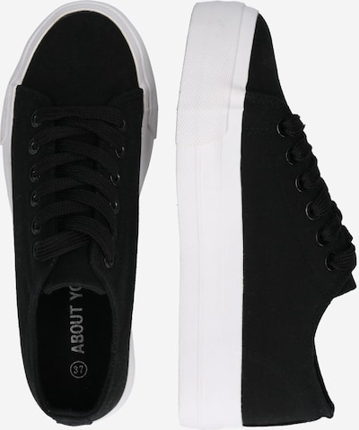 ABOUT YOU Sneaker 'Eda' in schwarz: Seitenansicht
