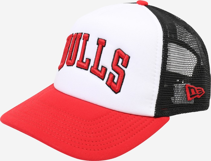 NEW ERA Cap 'NBA TEAM TRUCKER' in rot / schwarz / weiß, Produktansicht