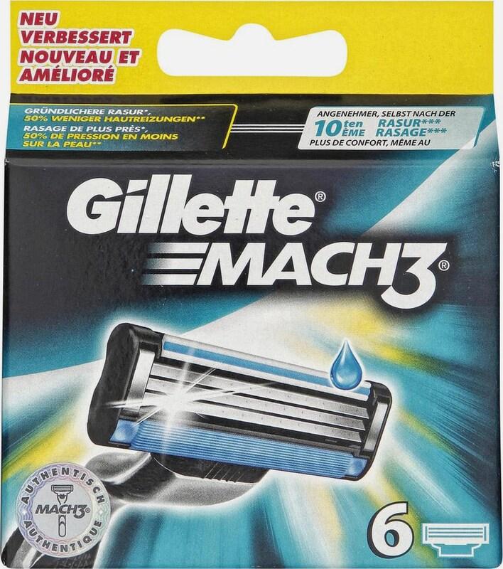 Gillette 'Mach 3', Rasierklingen, 6-tlg.