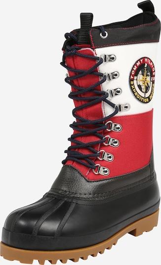 Tommy Jeans Stiefel in dunkelblau / rot / weiß, Produktansicht
