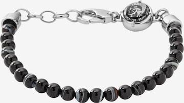 DIESEL Bracelet 'Beaded Studs' in Black