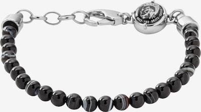 DIESEL Armband 'Beaded Studs' in schwarz / silber, Produktansicht