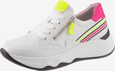 GABOR Sneaker in neongelb / pink / weiß, Produktansicht