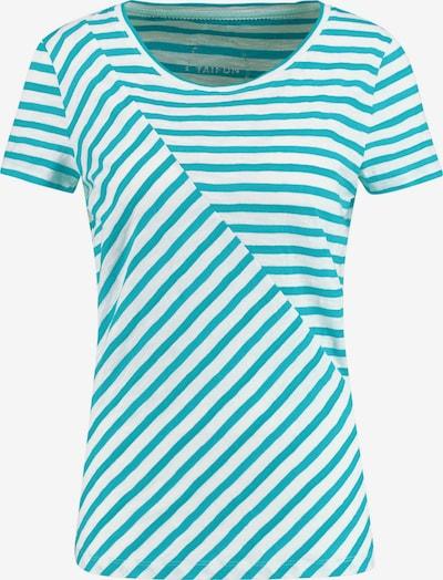 TAIFUN T-Shirt Kurzarm Rundhals Shirt mit Streifen-Dessin organic cotton in weiß, Produktansicht