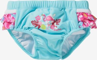 PLAYSHOES Schwimmwindel 'Flamingo' in türkis / pink / weiß, Produktansicht