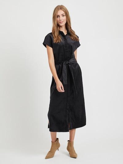 OBJECT Blusenkleid in schwarz, Modelansicht