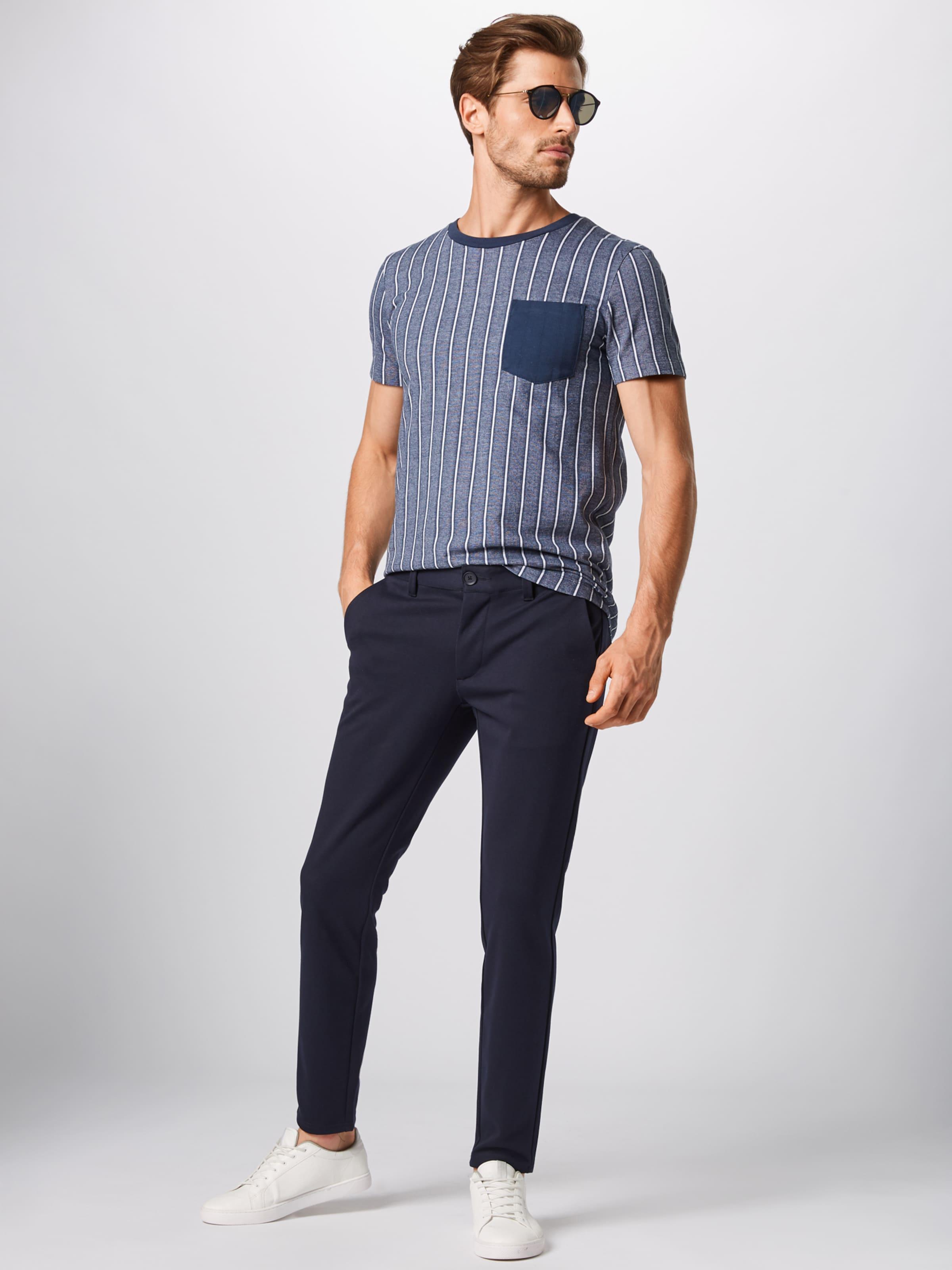 'striped Denim In shirt Tom Tailor T DunkelblauWeiß Piqu' He2YD9IWE