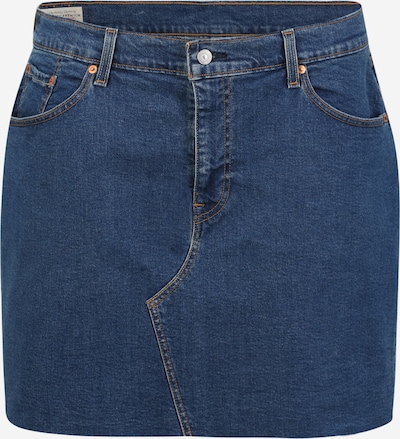 Levi's® Plus Rok 'DECONSTRUCTED' in de kleur Blauw denim, Productweergave