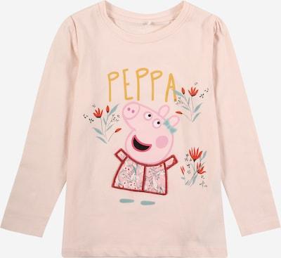 NAME IT T-Shirt 'PEPPAPIG' en vert / rose / poudre / rouge: Vue de face