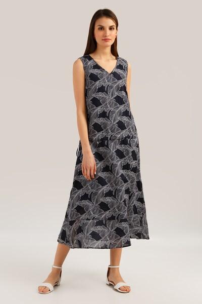 Finn Flare Kleid in nachtblau / weiß, Modelansicht