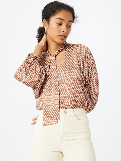 Guido Maria Kretschmer Collection Blouse 'Liz' in de kleur Beige, Modelweergave