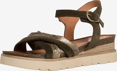 MARCO TOZZI Sandale in khaki, Produktansicht