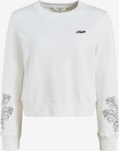 khujo Sweatshirt 'Anakoni leaves embro' in weiß, Produktansicht