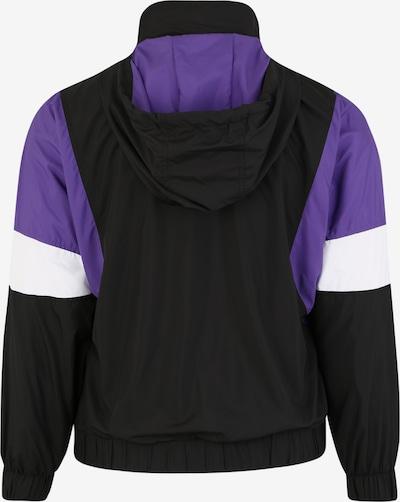 Urban Classics Curvy Veste mi-saison en violet / noir / blanc: Vue de dos
