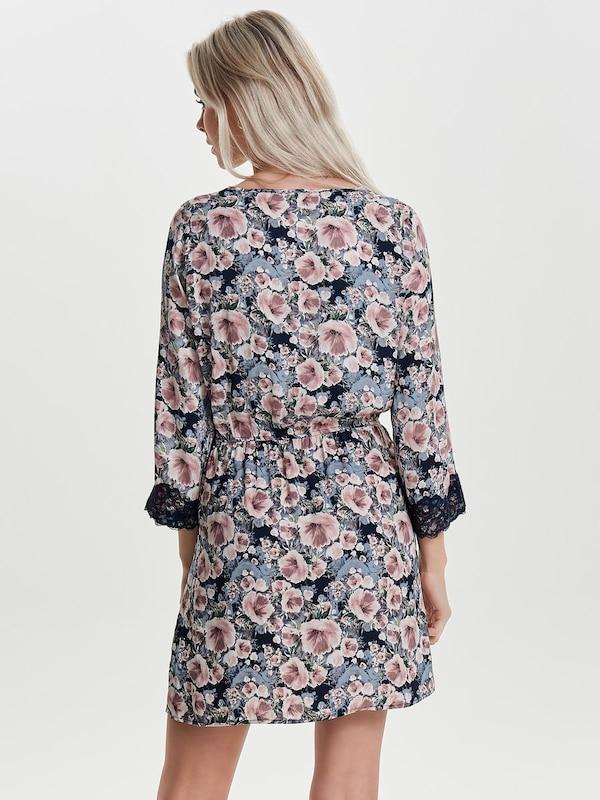 JACQUELINE de YONG Spitzen Kleid mit langen Ärmeln