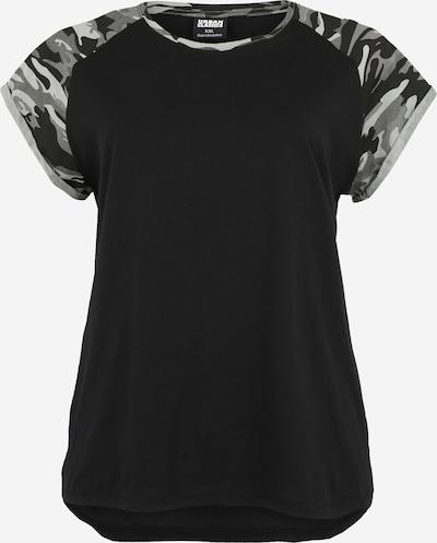 Urban Classics Curvy T-Shirt in stone / hellgrau / schwarz, Produktansicht