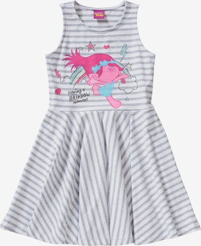 Trolls Jerseykleid in grau / pink / weiß, Produktansicht