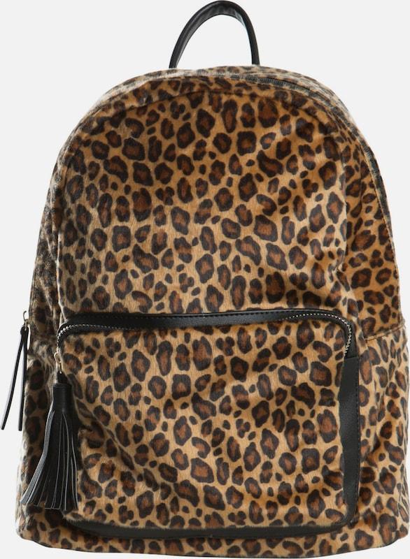 PIECES Rucksack mit Leopardenprint