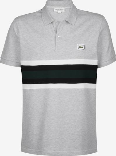 LACOSTE Polo ' Sportswear ' in grau / schwarz / weiß, Produktansicht