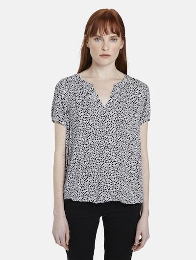 TOM TAILOR Bluse in schwarz / weiß, Modelansicht