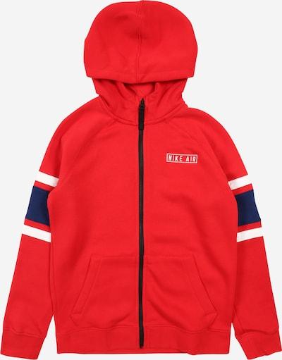 Nike Sportswear Sweatjacke in navy / rot / weiß, Produktansicht