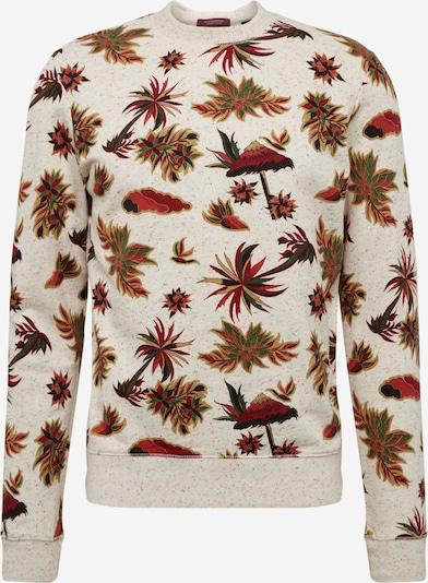 SCOTCH & SODA Sweatshirt in beige / braun / rostrot, Produktansicht