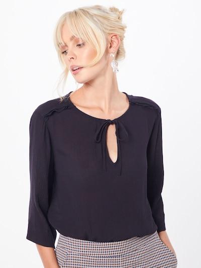 ESPRIT Bluse 'Solid Rayon Gau' in schwarz, Modelansicht