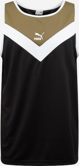 PUMA T-Shirt en kaki / noir / blanc, Vue avec produit
