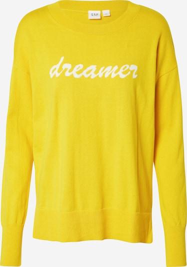 GAP Pullover in goldgelb / weiß, Produktansicht