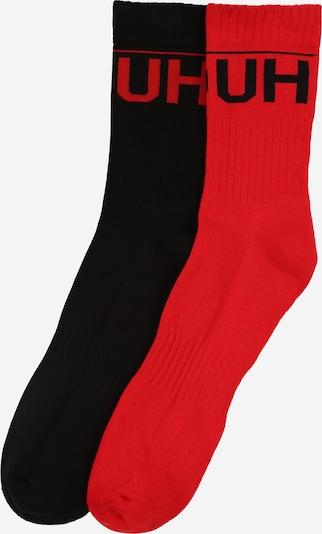 HUGO Socken in hellrot / schwarz, Produktansicht
