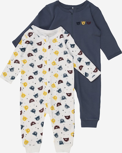 NAME IT Schlafanzug in dunkelblau / mischfarben / weiß, Produktansicht