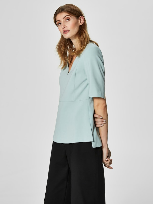 Selected Femme Feminine Shell With Short Sleeves