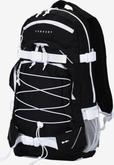 Forvert Rugzak in de kleur Zwart / Wit, Productweergave